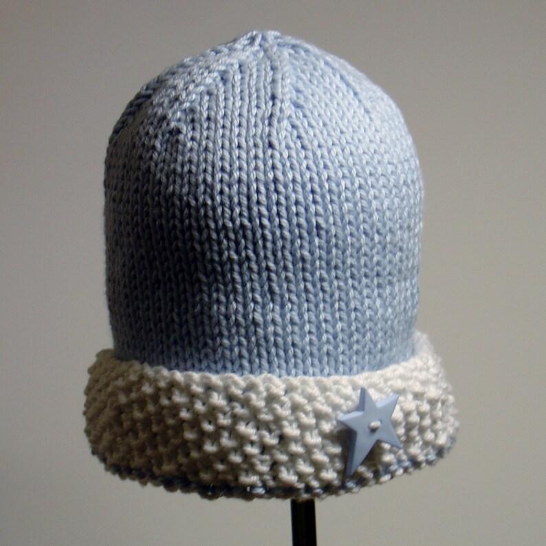 6aa8c16494941 PDF PATTERN: Watch Cap Seed Stitch Brim Infant, Toddler, Children's Hat