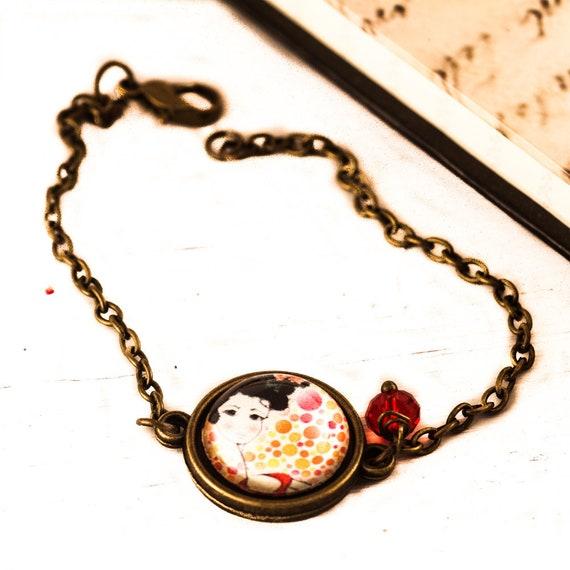 Spanish Bracelet Glass Cameo Bracelet Flamenco Jewelry Etsy