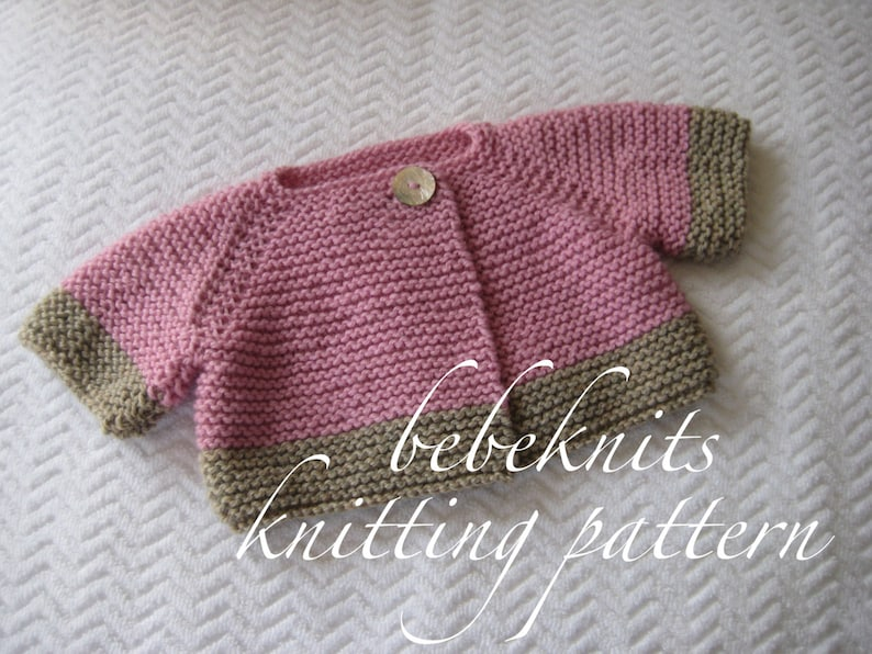 ede7d72e1e72 Bebeknits French Style Brittany Baby Cardigan Knitting Pattern
