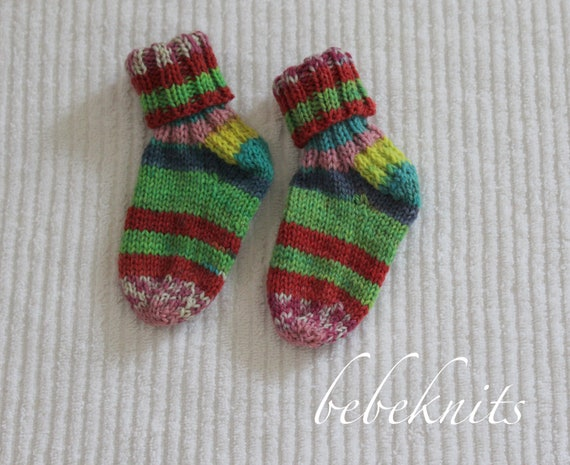 Bebeknits Easy Baby Socks Knitting Pattern Etsy