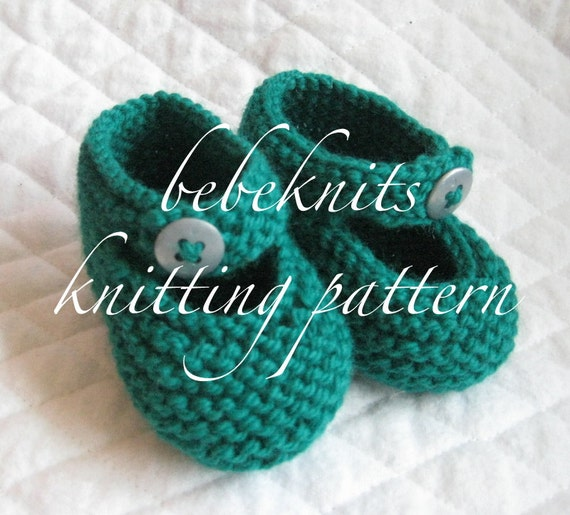 Bebeknits Ankle Button Baby Bootie Knitting Pattern Etsy
