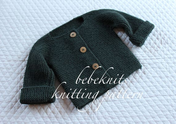 f7718dc6cd5e Bebeknits Simple French Style Children s Cardigan Knitting