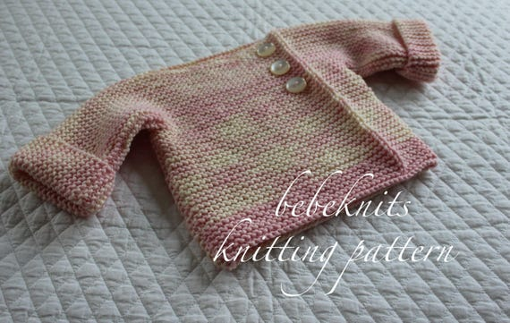 4b2fe550c99e Bebeknits Simple French Style Lightweight Baby Pullover