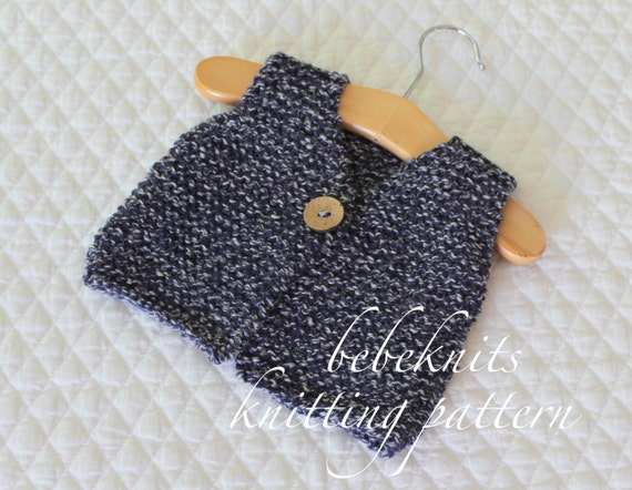 Bebeknits Simple French Style Tiny Baby Body Warmervest Etsy