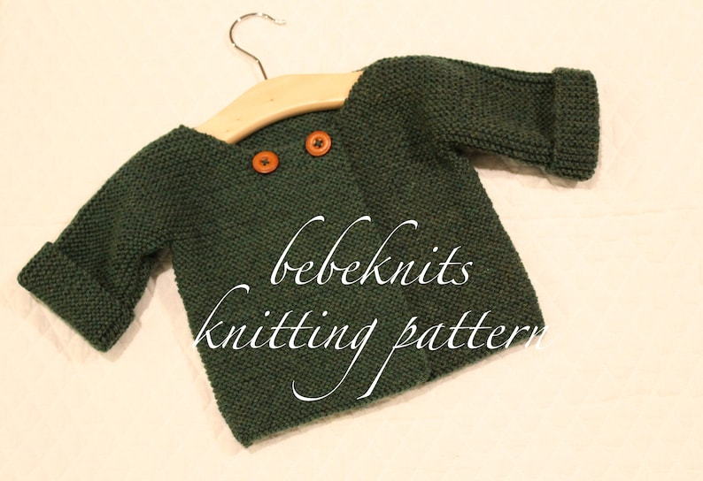 e0cb95fda Bebeknits Deauville Double Button Baby Cardigan Knitting