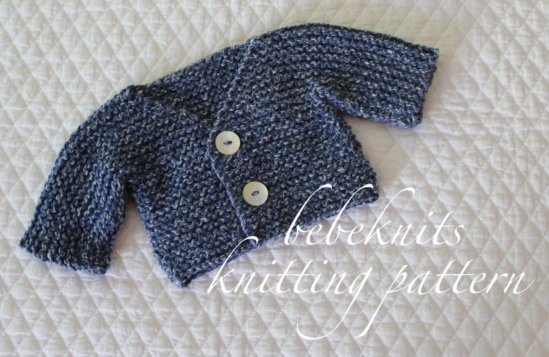 2654a94a1dac Bebeknits Simple French Style V-Neck Tiny Baby Cardigan
