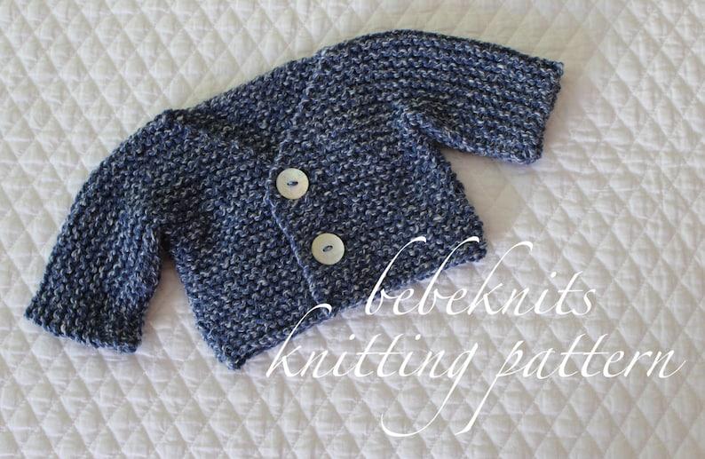 9797bd640680 Bebeknits Simple French Style V-Neck Tiny Baby Cardigan