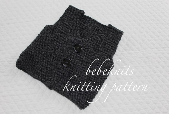 Bebeknits Simple French Style Childrens Vest Knitting Etsy