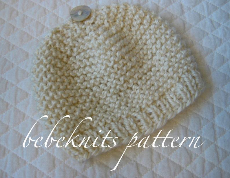Bebeknits Simple French Style Garter Stitch Baby Hat Knitting  fa2c6e7d6e2