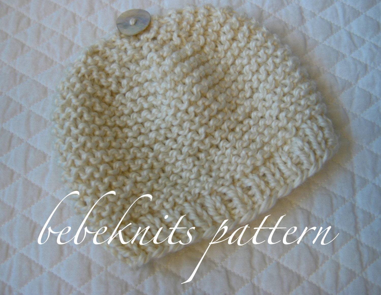 Bebeknits Simple French Style Garter Stitch Baby Hat Knitting  7b99c9ee8f5