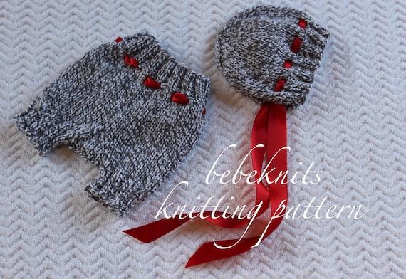Bebeknits Baby Bella Bonnet And Pants Set Knitting Pattern Etsy