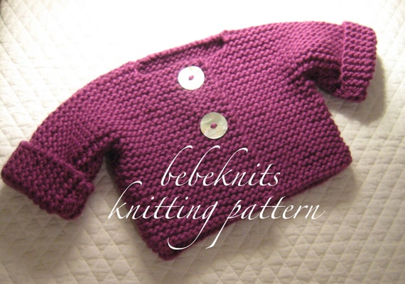 a9b6157f33e1 Bebeknits Simple French Style Center Button Baby Cardigan