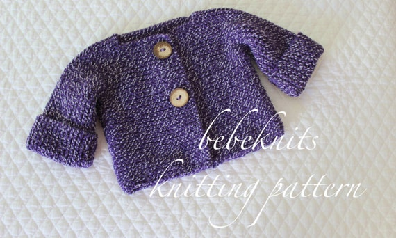 Bebeknits Simple French Style Lightweight Baby Cardigan Etsy