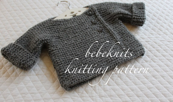 Bebeknits Simple French Style Baby Pullover Knitting Pattern Etsy