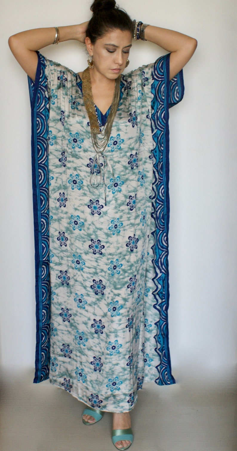 Silk Kaftan, Silk Kimono, Lounge Kaftan, Maxi Dress, Kaftan, Maternity  Dress, Silk Robe, Dressing Gown, Plus Size Dress, Indigo Batik Silk