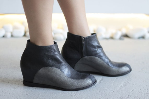 RIDER - Black and Silver - FREE Shipping Shipping Shipping Handmade WoHommes  Shoes   winter sale price | Brillance De Couleur  e6cd9d