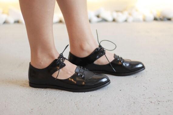 02147982c1c0b Ranka - Black - FREE SHIPPING - Handmade Leather Women Flat Shoes 2016-2017  Winter Collection