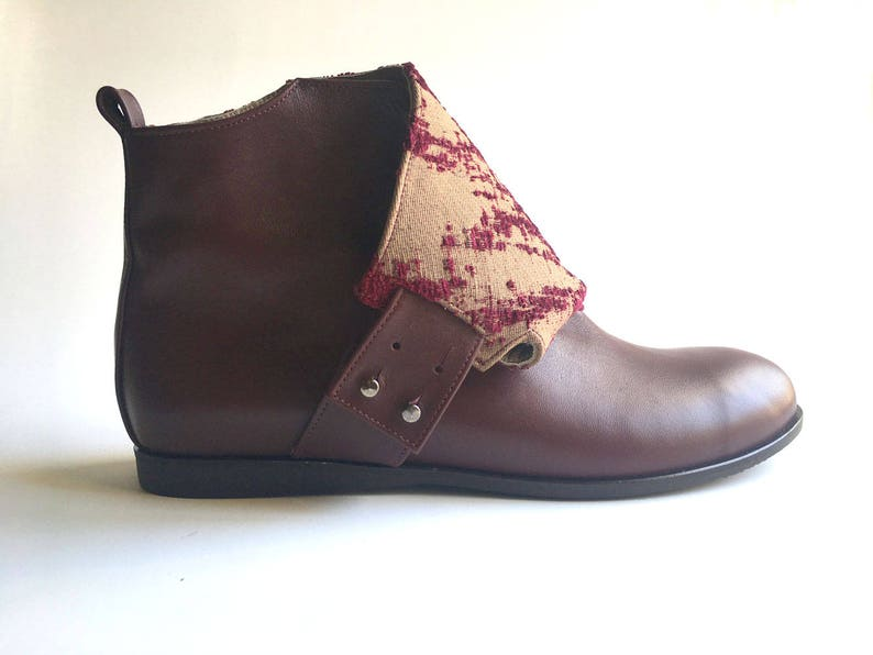 b5e2ed2a7465c Jade - Burgundy - FREE SHIPPING - Handmade Leather Women Boot 2017-2018  Winter Collection