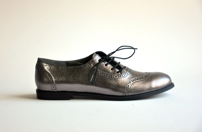 e217b54095f0c Jekyll Hyde - Metallic- FREE SHIPPING - Handmade Leather Women Flat Shoes  2018-2019 Winter Collection