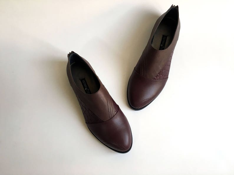 ac12c397f632f MARCEL - Burgundy - FREE SHIPPING - Handmade Leather Women Shoes 2017-2018  Winter Collection