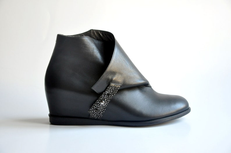 6fa4cb483df80 JACKIE - Black - Handmade Women Shoes Winter Collection