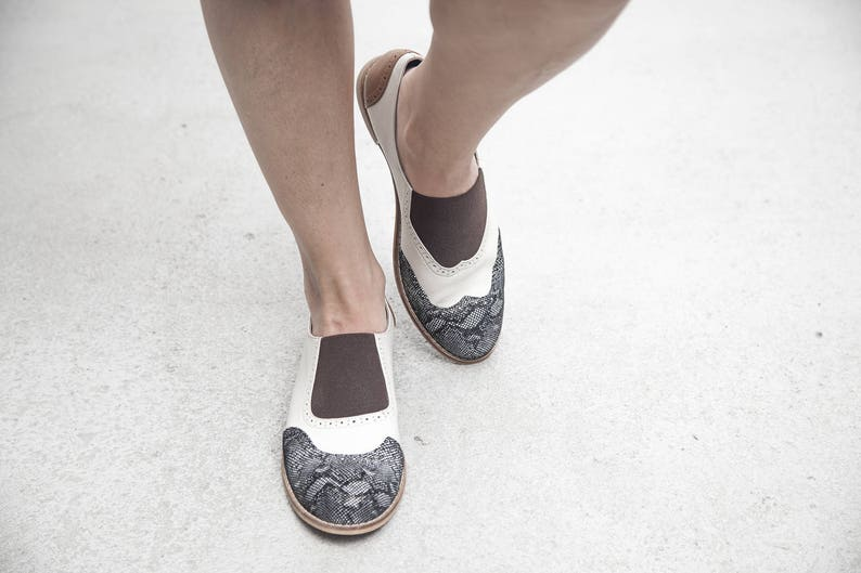 6b5f81c82e044 Jekyll Hyde - Black/Brown - FREE SHIPPING - Handmade Leather Women Flat  Shoes 2018 Summer Collection