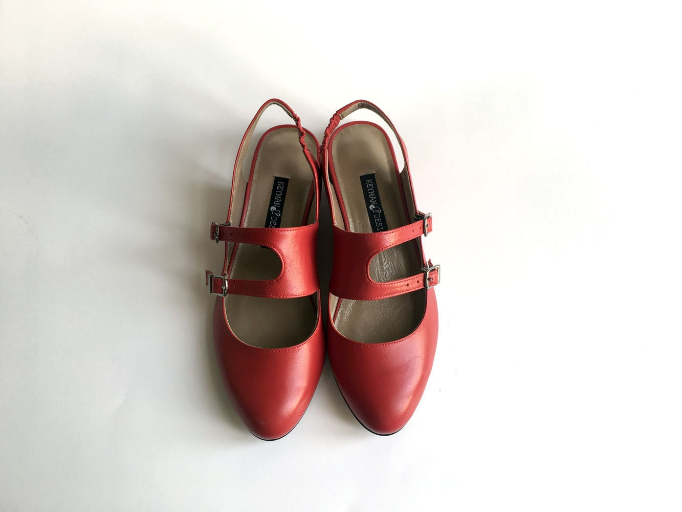 Nell - Red - Shoes FREE SHIPPING Handmade Leather Shoes - bec309