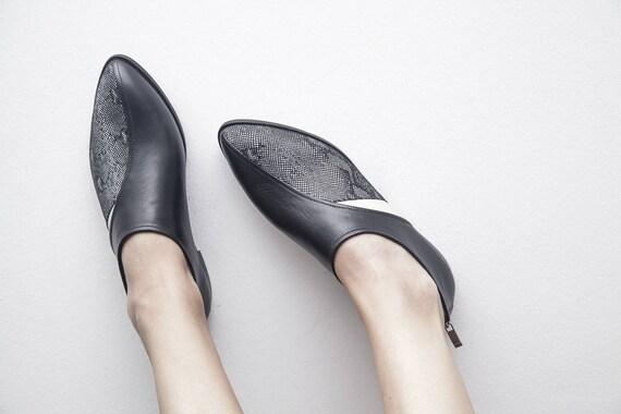 PEYTON - noir/blanc - livraison gratuite - fait main main main en cuir femme Collection chaussures été 2018 | La Mode De  b1c8e4