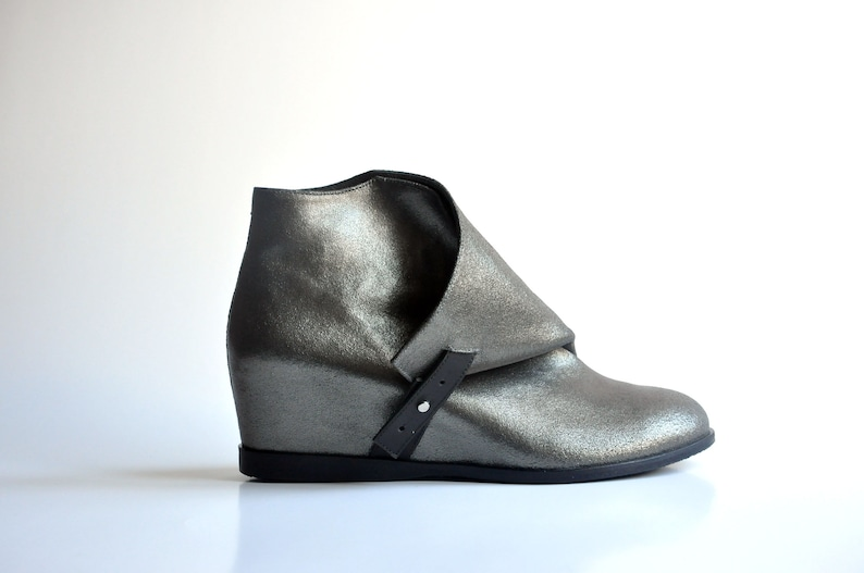 1fce547966f37 JACKIE - Silver color - Handmade Women Shoes with winter sale price FREE  SHIPPING