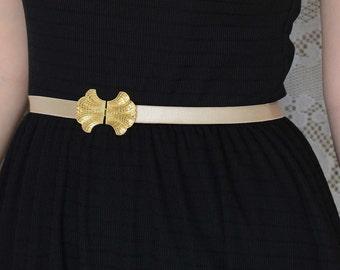 Wedding dress belt -  Bridal belt - bridesmaids belt - Waist Belt - Gold belt -  wedding gown Belt - nude belt - skinny belt - bridal sash