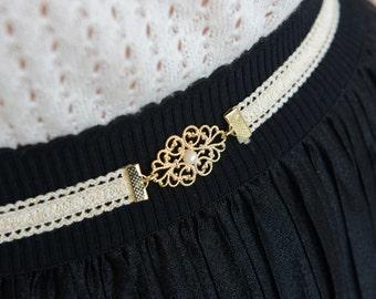 Wedding belt - Bridal Belt - Ivory belt - Gold belt - Wedding belt - Wedding Dress Belt - Wedding Gown Belt - Gold Ivory belt with pearl
