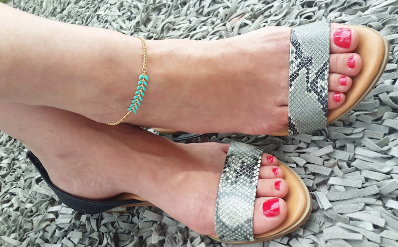 Blue Anklet Chevron anklet v Anklet Foot Jewelry Gold anklet Something Blue summer jewelry chevron Ankle Bracelet Boho anklet