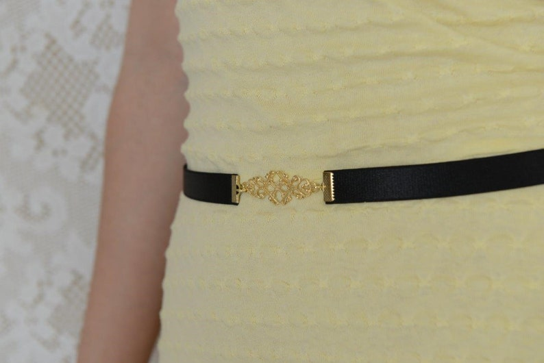 812afa605de440 Schwarzgurt schmaler Gürtel Taille Gürtel elastische | Etsy