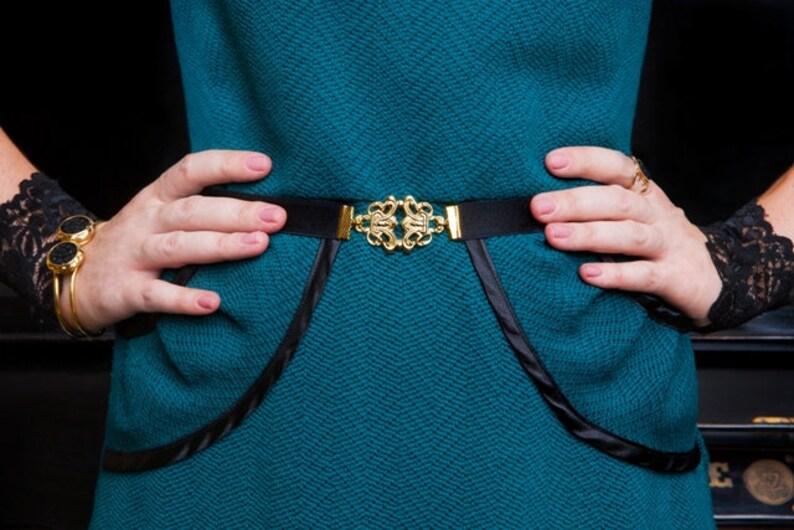 Gold Belt Elastic Belt Skinny Belt Dress Belt Waist Belt Bridesmaid Accessories Stretch Belt Bridesmaid Belt