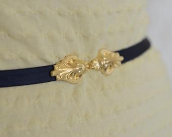 Waist Belt - Black Belt - Skinny Belt - Bridesmaid Belt - Gold Belt - Bridesmaid Accessories - Dress Belt - Elastic Belt - Stretch Belt