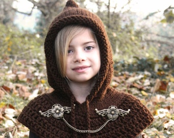 Fairy hood with capelet- statement jewelry