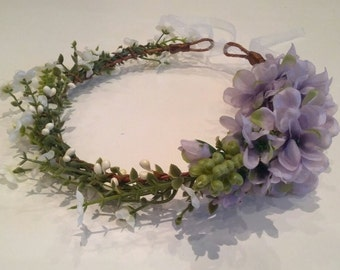 Romantic floral crown - bridal wreath- statement jewelry