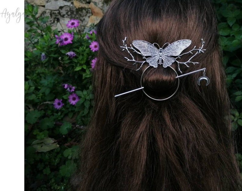 butterfly branches brooch pin Butterfly Hair barrette