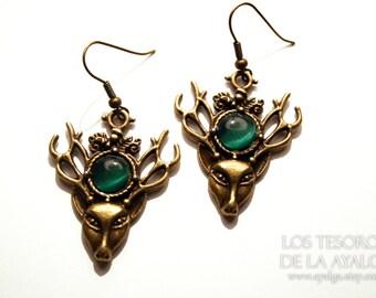 Deer earrings- statement jewelry