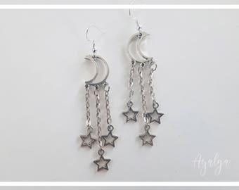 Moon  earrings- statement jewelry