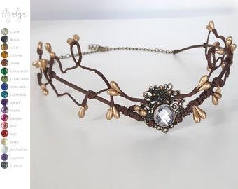 Woodland elf tiara - elven headpiece - fairy crown - festival crown - boho tiara - tiara - crown - elven tiara - elven crown - faery tiara