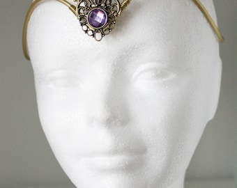 brass elvish tiara • wedding accesories • elvish headpiece . Bridal • elven tiara- statement jewelry - statement jewelry - tiara crown