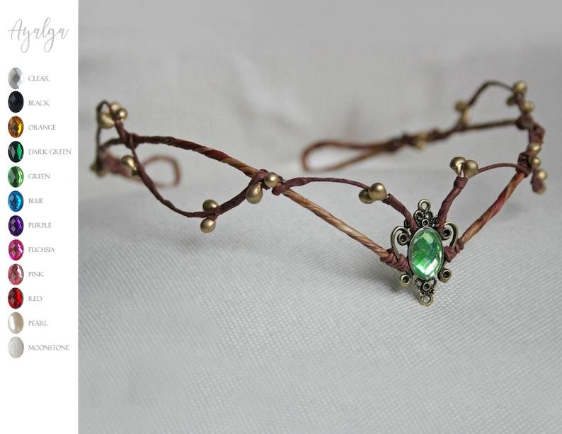 Woodland elf tiara  elven headpiece  fairy crown woodland image 0