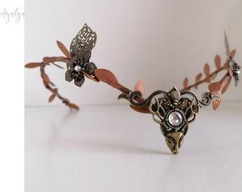 Woodland elf tiara - elven headpiece - fairy crown- woodland crown - elven forest - elvish tiara - elven clothes - medieval accessories