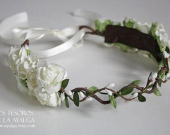 Floral crown - wedding crown - floral headpiece- statement jewelry
