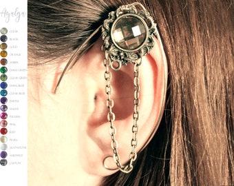 brass elven ear  - ear cuff - elvish earring - elf ear- statement jewelry- statement jewelry