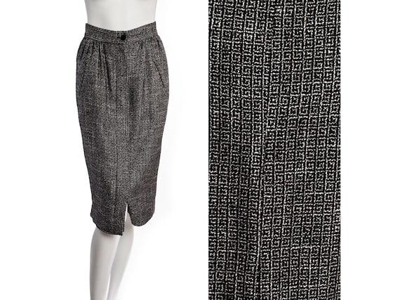 Vintage 40s style midi skirt -- vintage film noir