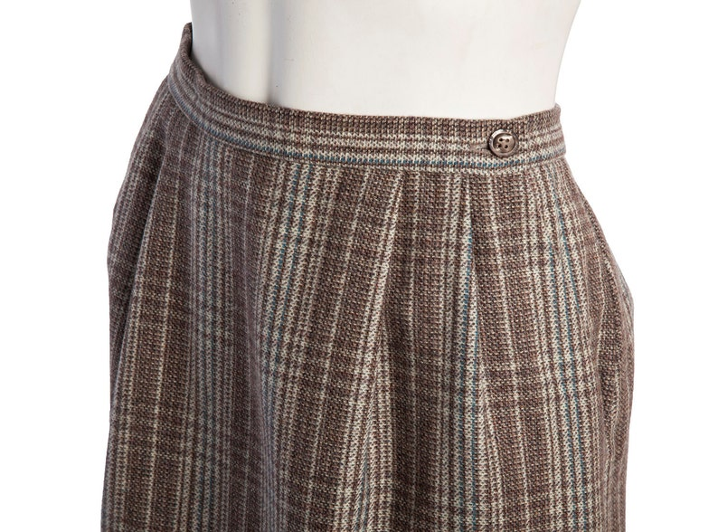 0cbe71eb1 Vintage A-line plaid skirt wool pencil skirt vintage | Etsy