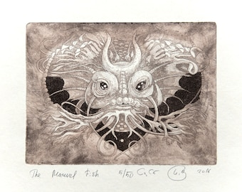 The Marvelous Fish (Original Etching with Aquatint Print)