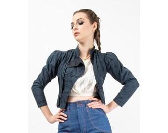 Antique Victorian Edwardian cotton calico bodice jacket / XS